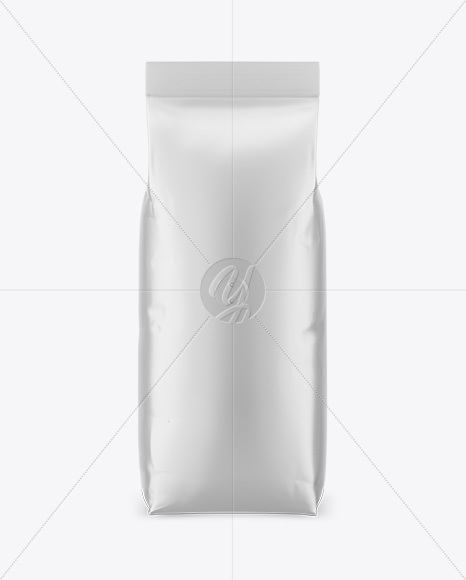 Download 1000g Matte Coffee Bag Mockup - Front View PSD