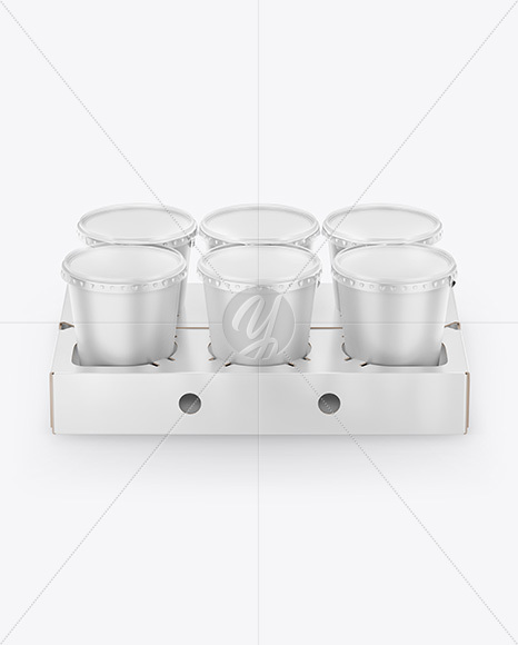 Download Transparent Pack With 6 Glossy Cans Mockup Front View High Angle Shot PSD - Free PSD Mockup Templates