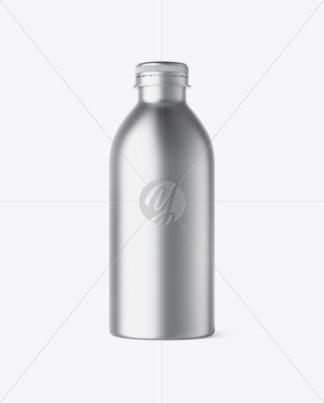 Matte Metallic Plastic Bottle Mockup