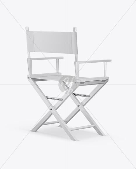 Glossy Director's Chair Mockup