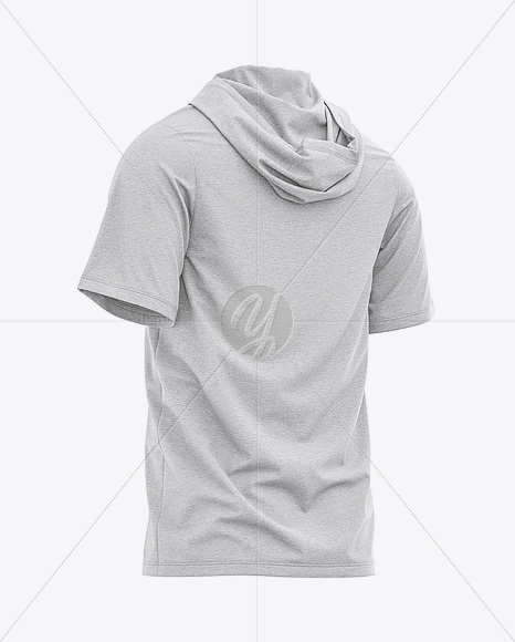 Download Mens Heather Hoodie Mockup Front View Yellowimages