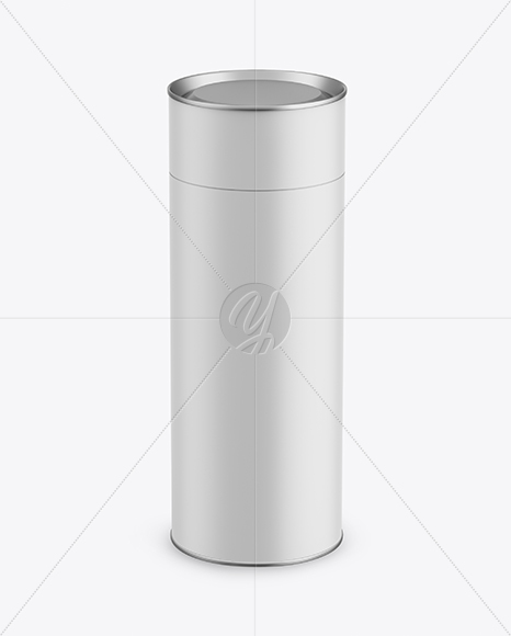Matte Paper Tube Mockup - Front View (High-Angle Shot)