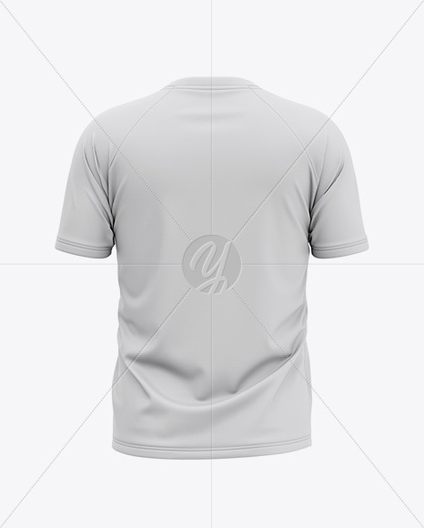 Men's Raglan Short Sleeve T-Shirt Mockup - Back View