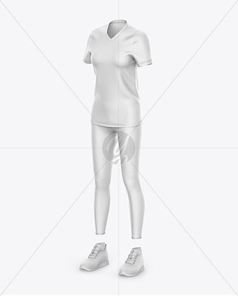 Women`s Sport Kit - Front Half Side View