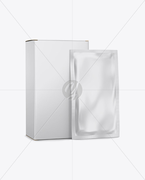 Download Tea Box Sachets Mockup Halfside View PSD - Free PSD Mockup Templates