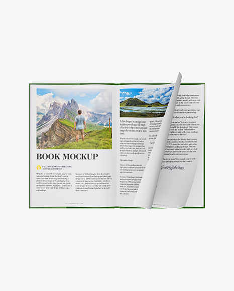 Open Book Mockup Free Download