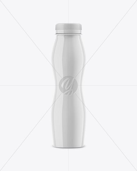 Glossy Yogurt Bottle Mockup