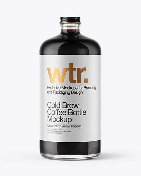 Coffee Bottle Mockup Free Download