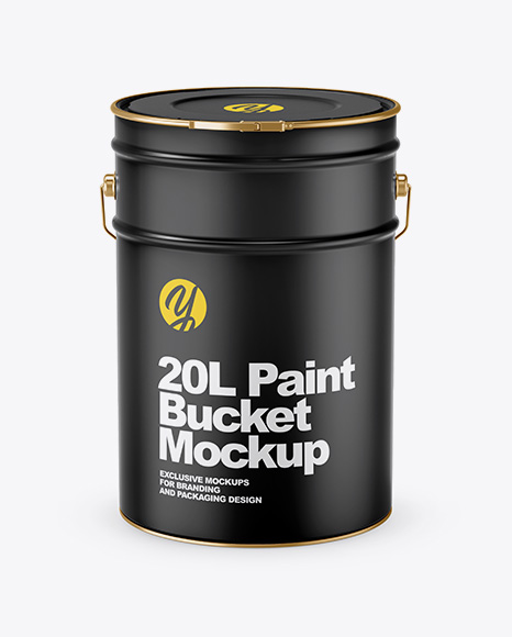 Download 20L Glossy Paint Bucket Mockup - 20L Matte Paint Bucket ...