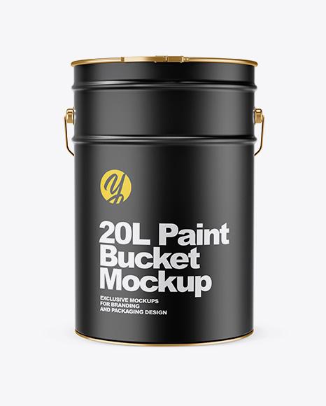 20L Matte Paint Bucket Mockup