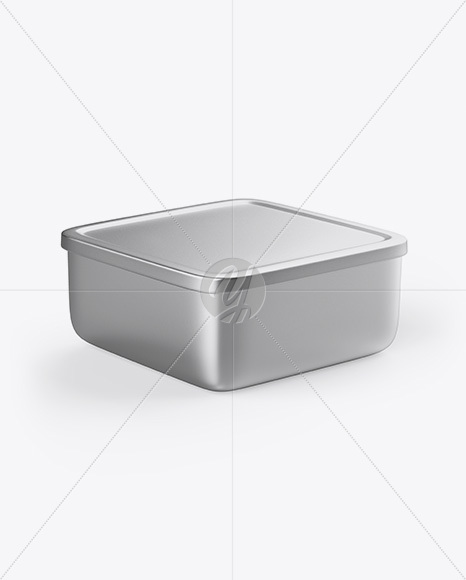 Metallic Container Mockup