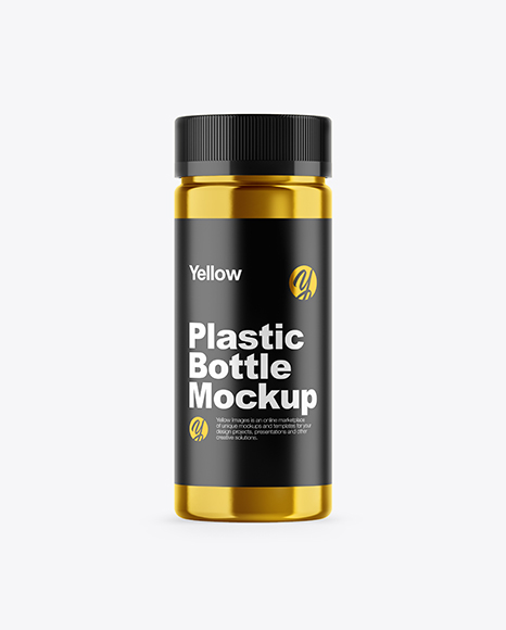 Metallized Pills Bottle Mockup