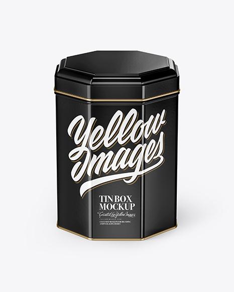 Glossy Tin Box Mockup