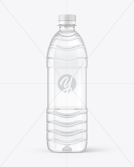 500ml PET Water Bottle Mockup