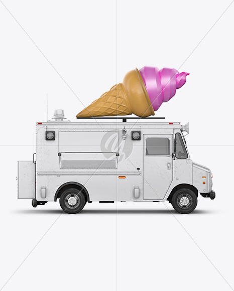 Download Ice Cream Cone With Splash Mockup PSD - Free PSD Mockup Templates
