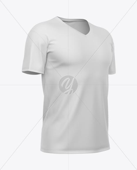 Men's V-Neck T-Shirt Mockup