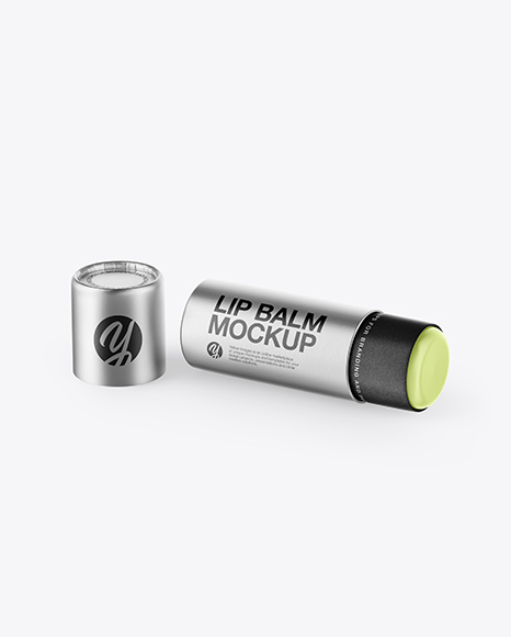 Metallic Lip Balm Mockup