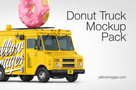 Download Foodtruck Mockup Pack In Handpicked Sets Of Vehicles On Yellow Images Creative Store PSD Mockup Templates