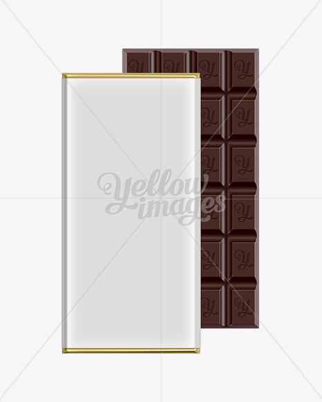 Dark Chocolate Bar Packaging Mockup