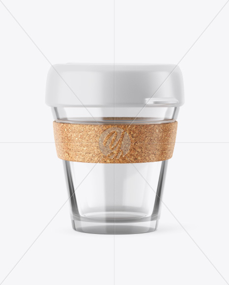 Glass Reusable Coffee Cup Mockup in Object Mockups on Yellow Images Object  Mockups