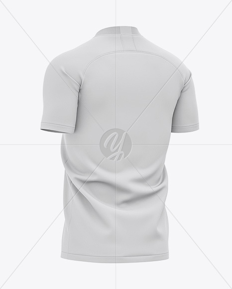 Download Mens Jersey With V Neck Mockup Front Half Side View Yellow Images