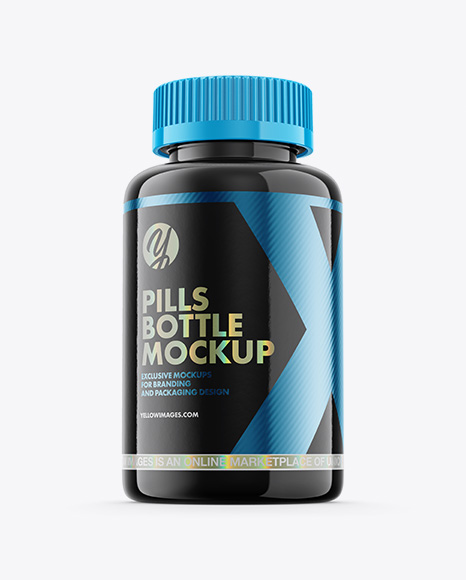 Download Glossy Plastic Pills Bottle Mockup Hero Shot Designs Zone PSD Mockup Templates
