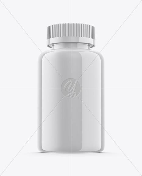 Glossy Plastic Pills Bottle Mockup - Hero Shot