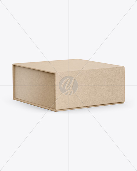 Download Opened Kraft Paper Noodles Box Mockup Half Side View In Box Mockups On Yellow Images Object Mockups