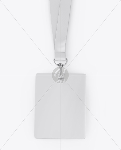 Vertical ID Card Mockup - Top View