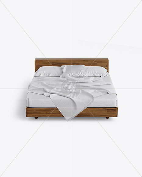 Wooden Double Bed Mockup