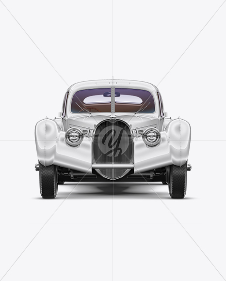 Retro Car Mockup - Front View