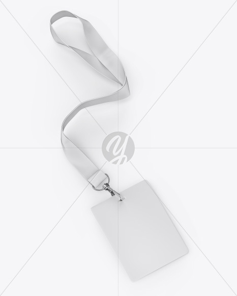 Vertical ID Card Mockup - Half Side View