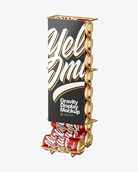 Gravity Display with Glossy Cans