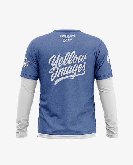 Download Mens Heather Long Sleeve T Shirt Front View Yellowimages