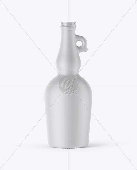 750ml Ceramic Olive Oil Bottle Mockup