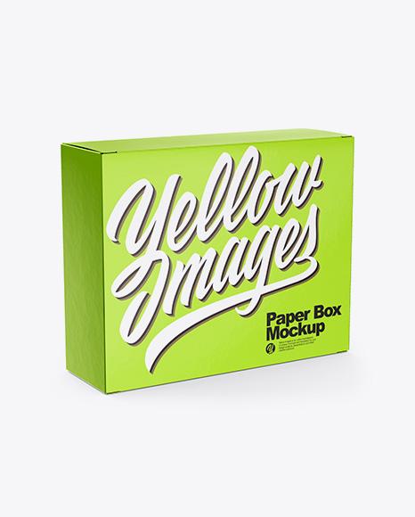 Metallic Box Mockup