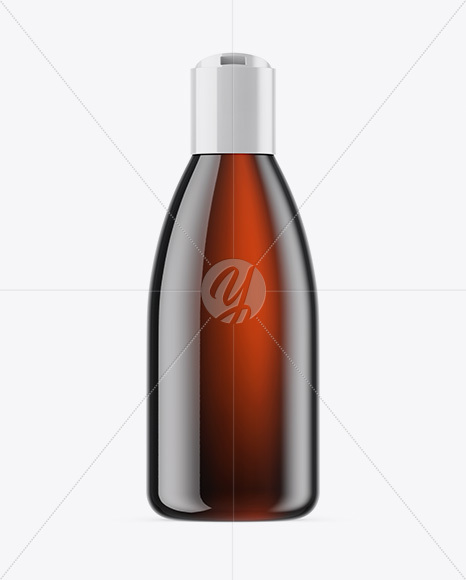 Amber Cosmetic Bottle Mockup