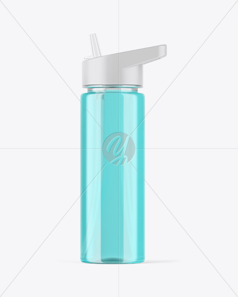 Clear Sport Bottle Mockup