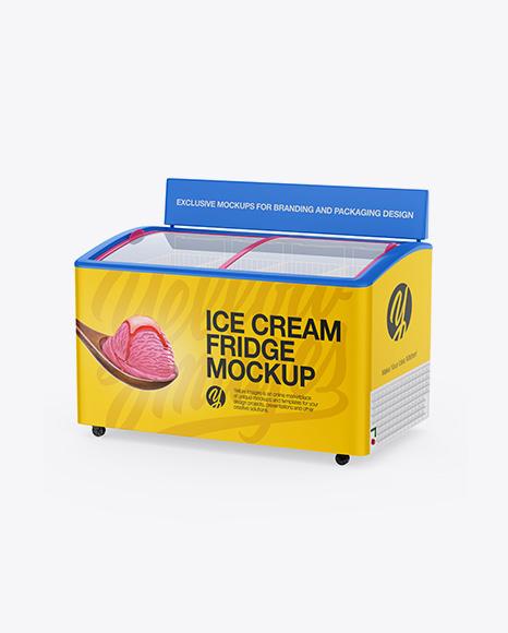 Ice Cream Fridge Mockup