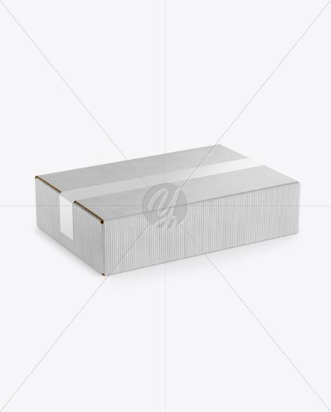 Download Kraft Box w/ Duct Tape Mockup Free Mockups