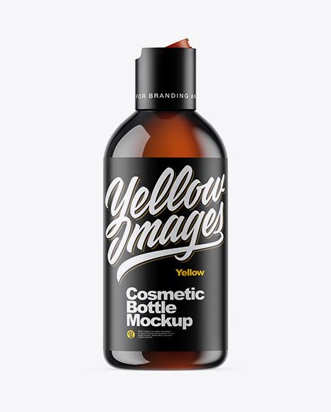 Amber Cosmetic Bottle Mockup