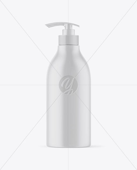Matte Bottle with Pump Mockup