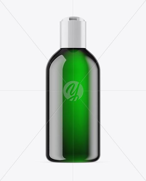 Green Cosmetic Bottle Mockup
