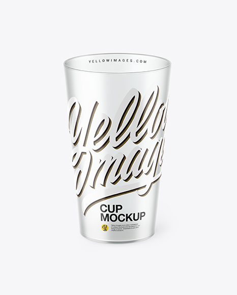 Clear Plastic Cup Mockup In Object Mockups On Yellow Images Object