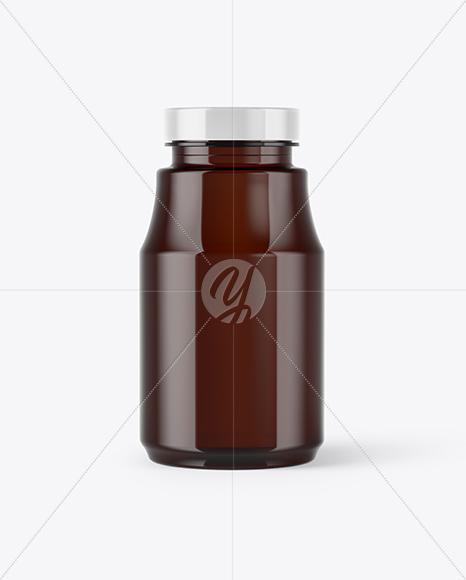 Amber Pills Bottle Mockup