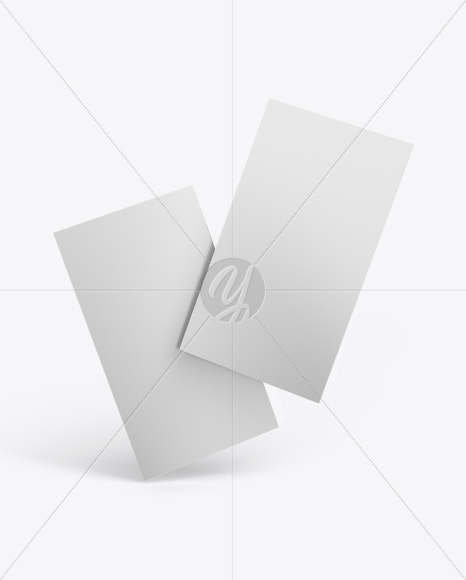 Two Matte Business Cards Mockup
