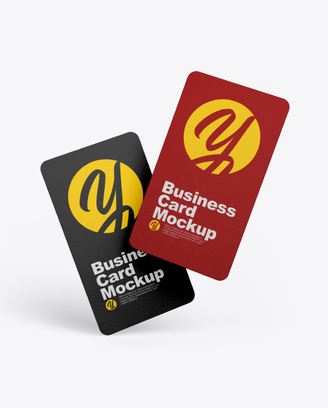 Two Textured Business Cards Mockup