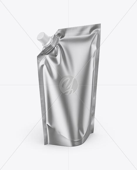 Matte Metallic Doy Pack Mockup