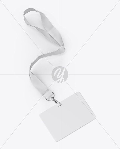 Horizontal ID Card Mockup - Half Side View