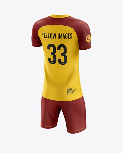 Men's Soccer Kit mockup (Back Half Side View)